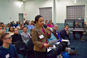 During the panel, sponsors like Centro Altagracia De Fe Y Justicia, were given the opportunity to question a hand-selected candidate.