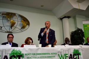 Assemblyman Guillermo  providing opening remarks during the start of the panel.