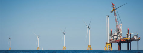 Offshore Wind Turbines and Oil Platform